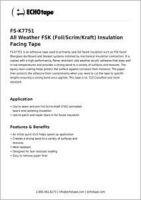 ECHOtape All Weather FSK Insulation Facing Tape FS-K7751.pdf