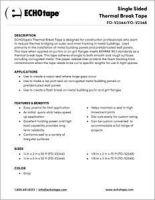 ECHOtape Single Sided thermal Break Tape FO-V2344 FO-V2348.pdf