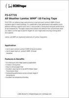 ECHOtape Lamtec WMP-10 All Weather Facing Tape FS-G7735.pdf
