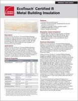 Owens Corning_EcoTouch Certified R MBI-15086-AA_Product Data Sheet